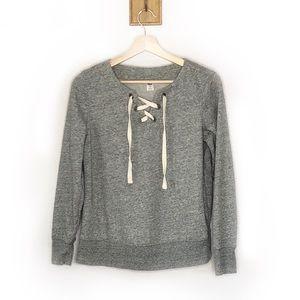 Old Navy Gray Criss cross ties front sweatshirt